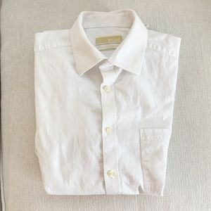 Michael Kors Men's White Long Sleeve Shirt Size XL